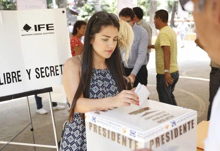 Un aspecto de la votación panista en Guadalajara, Jalisco. (Notimex)