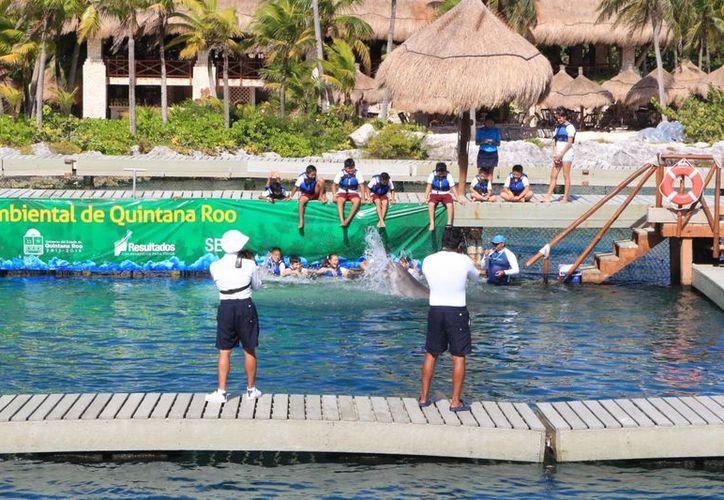 Xcaret y Delphinus iniciarán un programa de educación ambiental para 7 mil estudiantes de escuelas públicas. (Adrián Barreto/SIPSE)