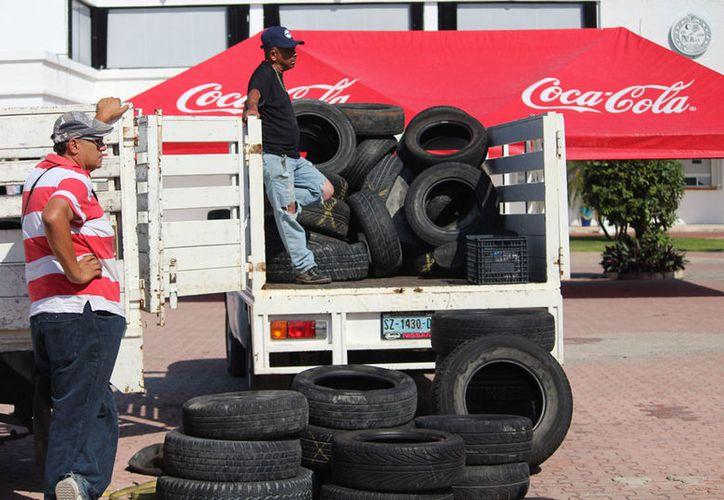 DE esta manera evitan no sólo la contaminación, sino la proliferación de mosquitos. (Octavio Martínez/SIPSE)