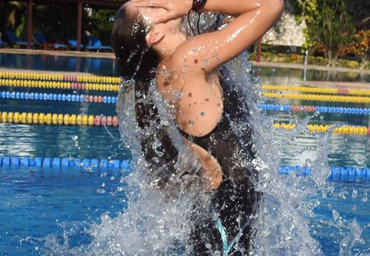 Andrea entrará en acción el martes 22 con la prueba de los 100 metros dorso. (Redacción/SIPSE)
