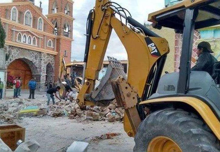 La Diócesis de Tlaxcala tampoco estaba enterada de la destrucción de la capilla del Santo Cristo, que tuvo lugar entre la tarde del sábado 25 y el domingo 26 de julio. (EFE)