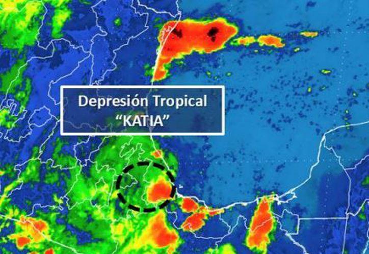 """Para hoy,  """"Katia"""" se ubicará en el norte de Puebla. (Conagua)"""