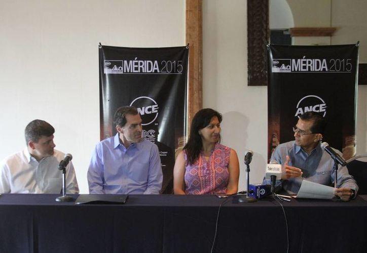 Imagen de la rueda de prensa con motivo de la 'Reunión ISO del comité técnico 242 (energymanagement)', que por primera vez se realizará en México. (SIPSE)