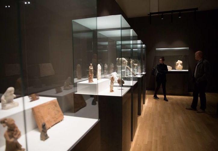 La exposición que incluye más de 300 piezas de la región maya de nuestro país estará presente hasta marzo de 2017. (Milenio Novedades)