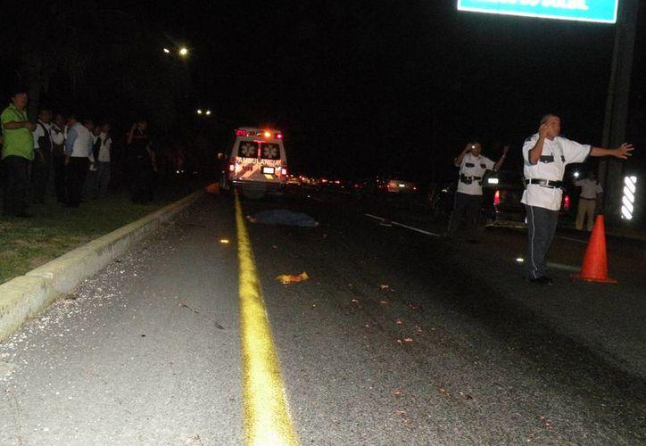 Un hombre falleció al ser doblemente embestido  al cruzar el bulevar Playa del Carmen. (Redacción/SIPSE)