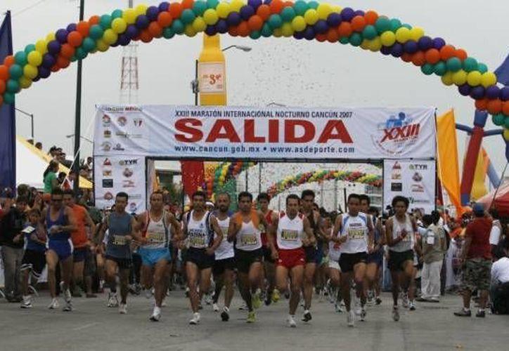 El evento pedestre se realizará en el Malecón Tajamar y la avenida Bonampak. (Archivos/SIPSE)