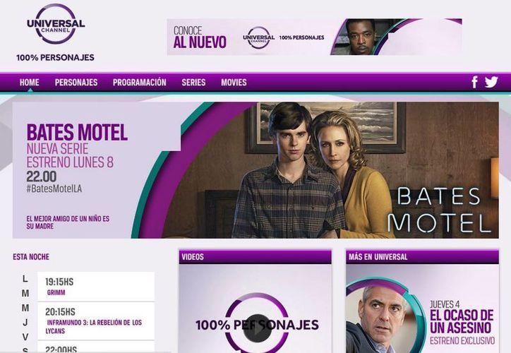 """La señal presenta un nuevo posicionamiento, logotipo, paquete on-air y su slogan: """"100% personajes"""", el cual se enfoca totalmente en los personajes de su programación. (universalchannel.tv)"""
