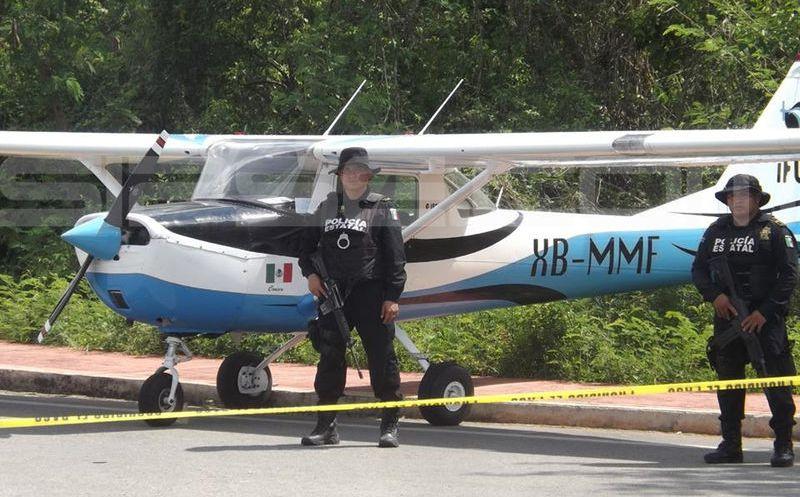 Aterriza de emergencia avioneta en límite de Yucatán con Q. Roo