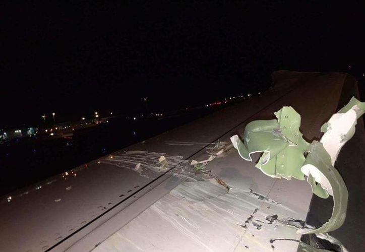 Uno de los aviones necesitará ser reparado; solo se reportaron daños materiales. (Foto: Air live)