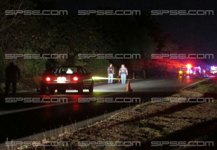 Un accidente dejó saldo de tres muertos en la carretera Mérida-Chetumal: 3 motos chocaron, y los 3 conductores fallecieron. (SIPSE)