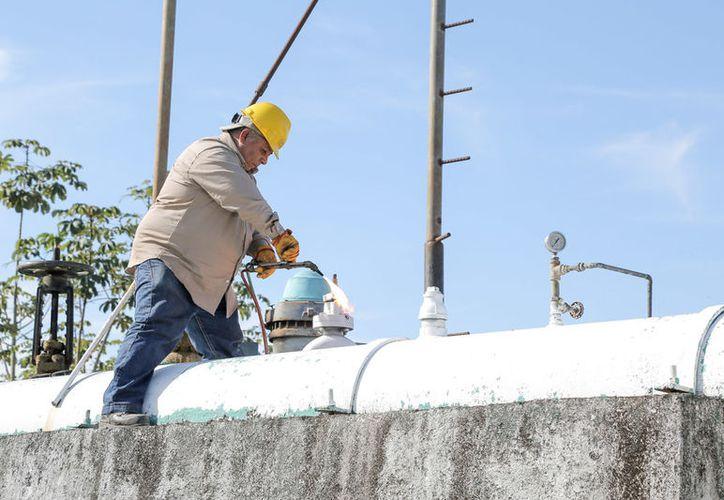 Este martes la CAPA realiza labores de mantenimiento en sus equipos ubicados en Bacalar. (Javier Ortiz/SIPSE)