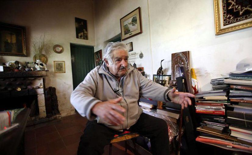 El presidente de Uruguay, José Mujica, durante la entrevista con Efe, en su domicilio, en una zona rural de Montevideo. (Efe)