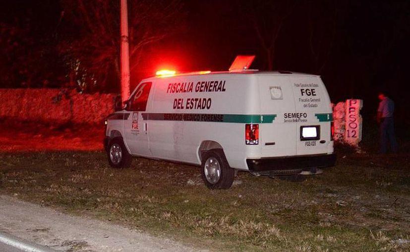 Los cuerpos fueron retirados de los hogares por elementos del Servicio Médico  Forense (Semefo) en Yucatán. (SIPSE)