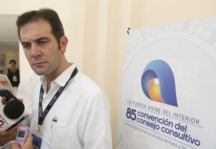 Lorenzo Córdova Vianello, entrevistado en el marco de la 85 Convención del Consejo Consultivo de la CIRT. (Tomás Álvarez/SIPSE)