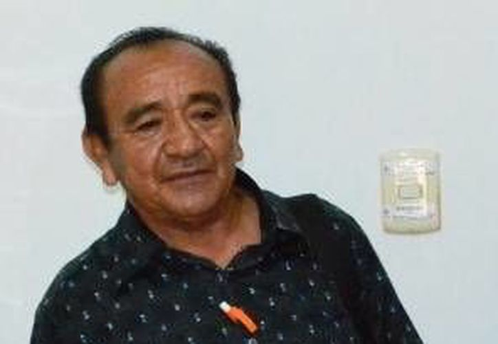 El comisario de Cholul, Abelardo Canché Cocom. (SIPSE)