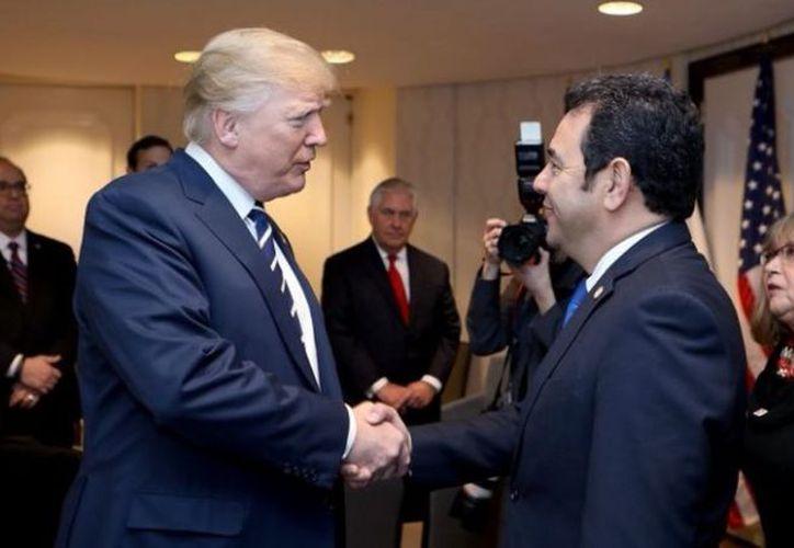 El encuentro de Trump y Morales, que fue breve, tuvo lugar en un céntrico hotel de Washington. (Foto: Sexenio)
