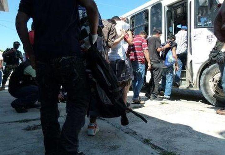 La Marina Armada de México rescató a migrantes que se encontraba 'secuestrados' en Reynosa, Tamaulipas. (Milenio Digital)