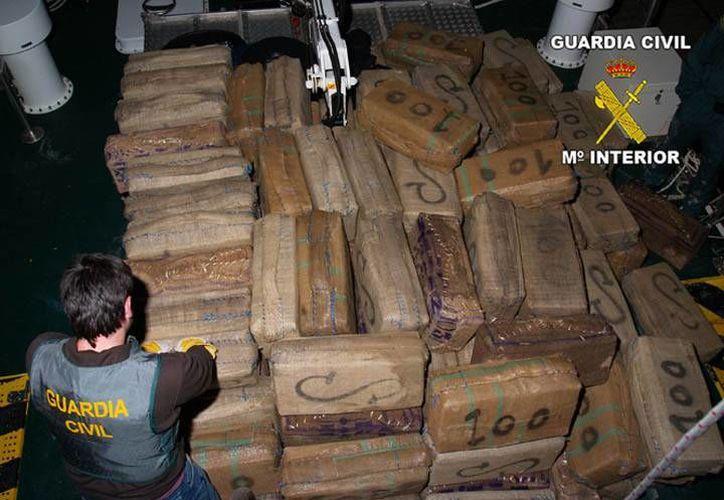 El cargamento fue valorado en más de 200 millones de euros. (guardiacivil.es)