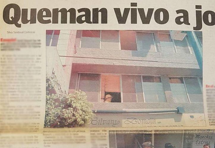 Publicación de un periódico de Guanajuato, sobre el crimen de un joven. Según familiares de la víctima, la presunta asesina vive 'tranquilamente' en Mérida, aunque nunca fue detenida y, por lo tanto, tampoco juzgada. (Milenio Novedades)