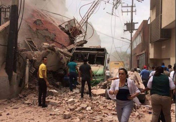 Asimismo se han reportado caídas de edificios en colonias de Ámsterdam, Nuevo León y Roma.