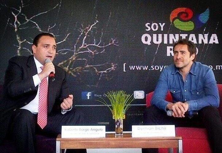 El gobernador Roberto Borge, en la conferencia de prensa. (Redacción/SIPSE)