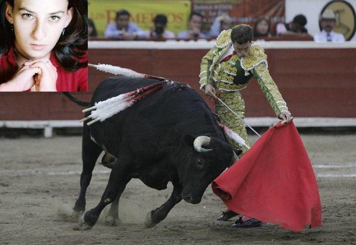 María del Mar de Ávila Ibarguengoytia (en recuadro) hizo historia en Zacatecas al ser la primera mujer en ser asesora de un juez de plaza. (myspace.com/Notimex)