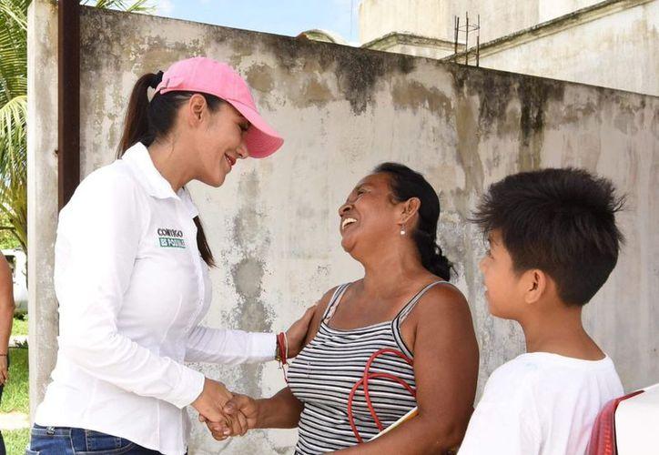 Candy Ayuso destacó que su prioridad es la seguridad y tranquilidad para las familias quintanarroenses.