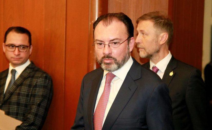 El canciller Luis Videagaray compareció este martes ante la Cámara de Senadores para aclarar la postura de México ante el nuevo gobierno de Estados Unidos. (Notimex/Archivo)