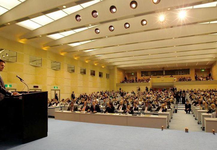 """El presidente Enrique Peña Nieto, advirtió durante la conferencia magistral: """"México en el mundo: Un actor con responsabilidad global"""". (Notimex)"""