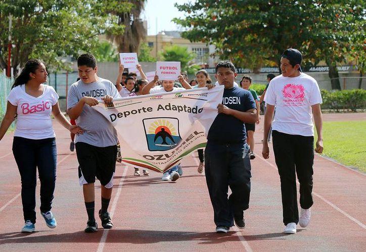 El jueves se inauguró en Cozumel la eliminatoria para integrar la selección de Q. Roo en los juegos paralímpicos nacionales. (Cortesía)