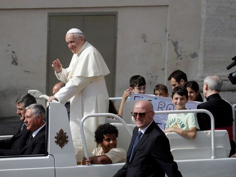 Pope Francis arrives for his weekly general audience in St. Peter's Square at the Vatican. (Photo: AP)