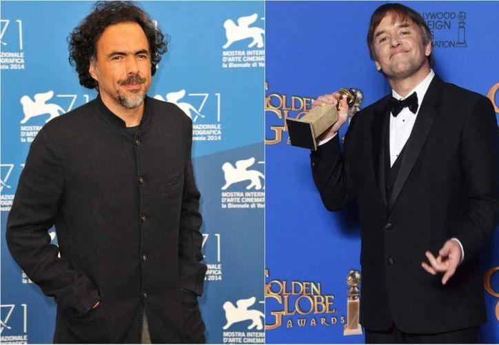 Ni el cineasta mexicano  Alejandro González Iñárritu (i) ni Richard Linklater han ganado nunca el Oscar a mejor película, pero esta vez podría ser diferente. (laprensa.hn/Foto de archivo)