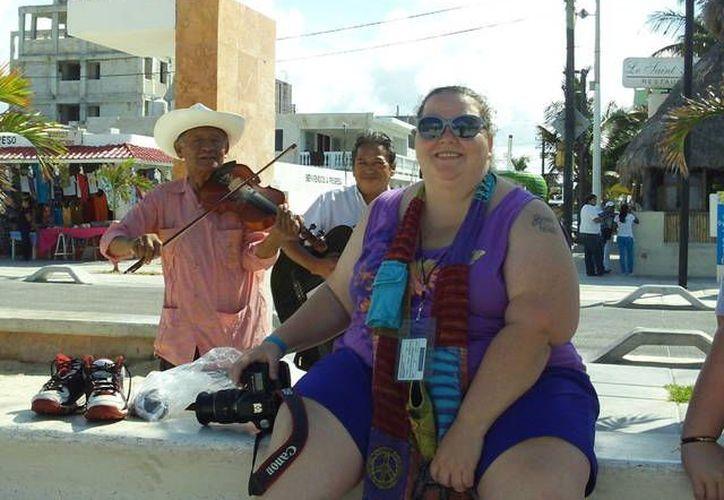 La jornada de crucero del miércoles en Progreso. (Manuel Pool/SIPSE)