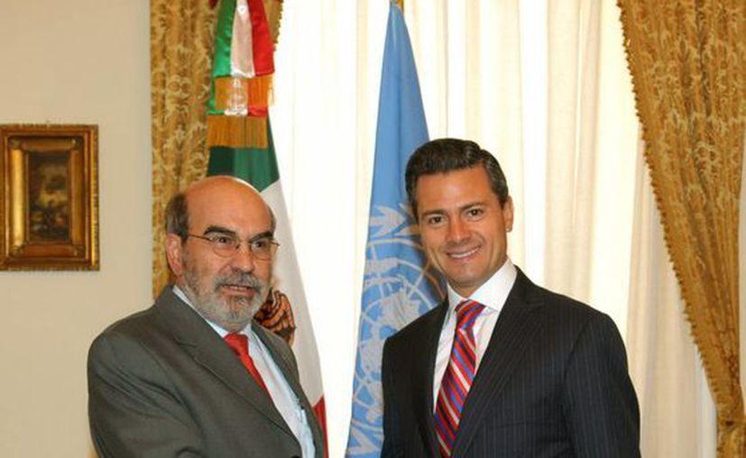 Enrique Peña Nieto con el director general de la FAO, José Graziano da Silva. (Notimex)