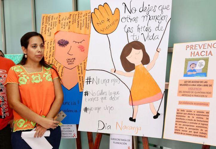 Se unen integrantes de SEQ a la lucha contra la violencia de género. (Foto: cortesía SEQ)
