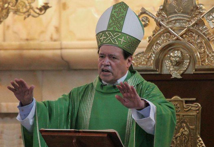 El cardenal Norberto Rivera Carrera anunció que la Arquidiócesis no participará en la marcha a favor de la familia. (siempre.com.mx)