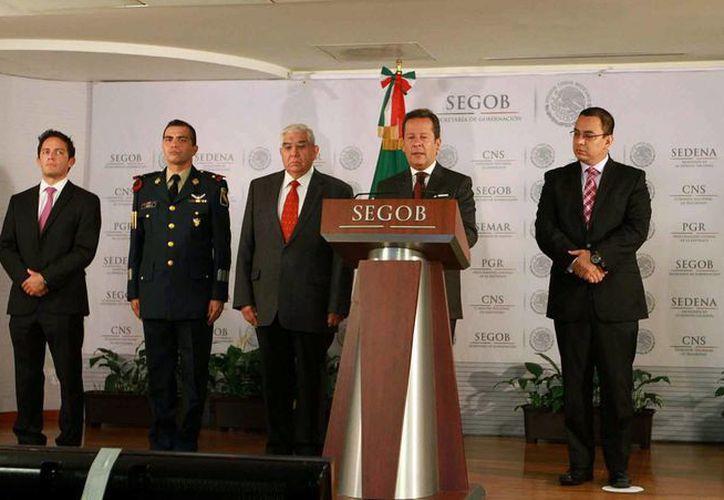 Eduardo Sánchez, vocero del Gabinete de Seguridad, en conferencia de prensa informó del programa Cuadrantes Carreteros. (Notimex)