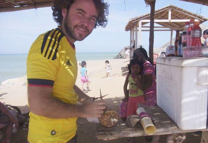 Foto facilitada por la familia del fotoperiodista Borja Lázaro Herrero, que fue tomada el día que desapareció en el desértico departamento de La Guajira, en el norte de Colombia. (EFE)