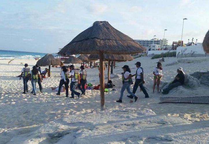 Los cadetes vigilarán las playas de Cancún como parte de sus prácticas. (Cortesía)