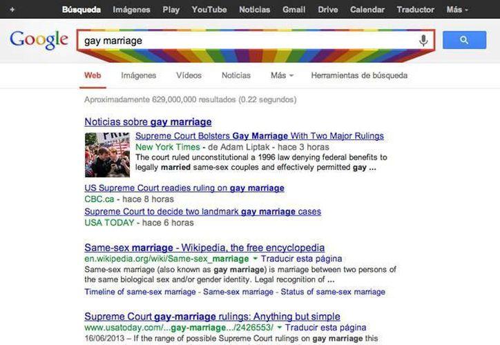 La caja de búsqueda en la página de resultados estará enmarcada por un arcoiris. (Foto: Google)