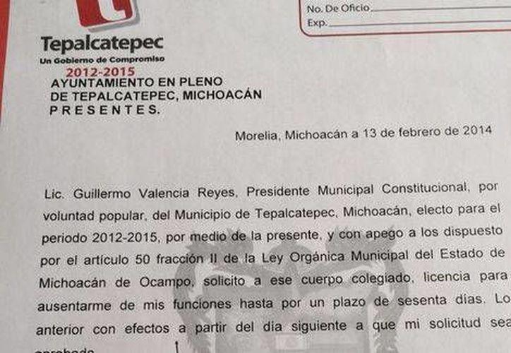 Mientras se analiza la petición de Guillermo Valencia Reyes, la síndico María Sánchez Vega se convierte en la encargada del despacho de la presidencia municipal de Tepalcatepec. (Especial/Foto Milenio)