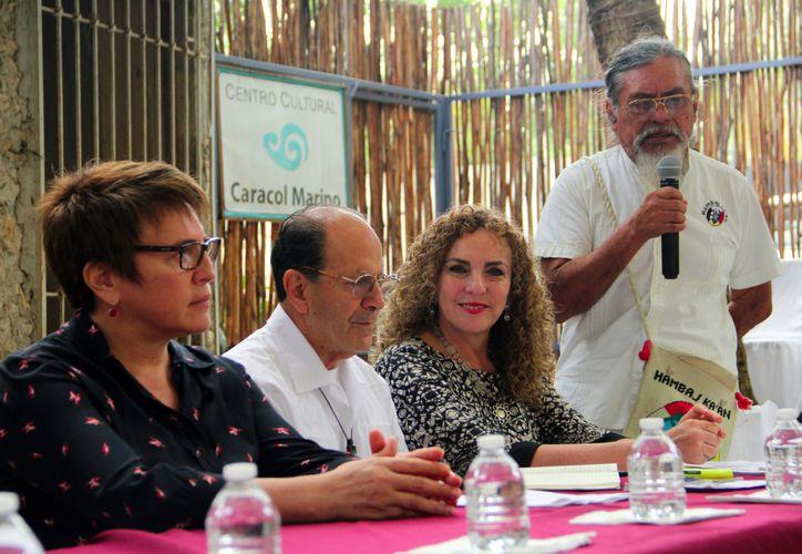 Realizaron una conferencia de prensa en el Centro Cultural Caracol Marino. (Cortesía)