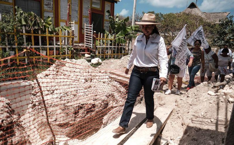 La candidata a Senadora por Morena busca hacer más atractivo el destino para favorecerlo con la llegada de más turismo. (Foto: Redacción/SIPSE).
