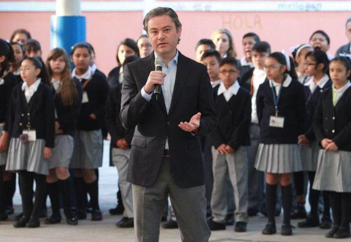 El titular de Educación Pública, Aurelio Nuño, defendió una vez más las bondades de la Reforma Educativa. (Notimex)