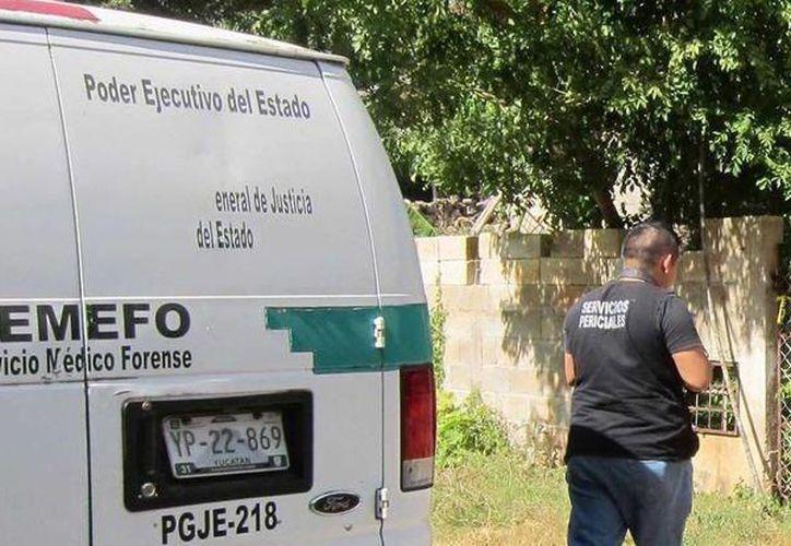 Personal del Ministerio Público y Servicios Periciales se presentó en el lugar para efectuar el levantamiento del cadáver. (Milenio Novedades)