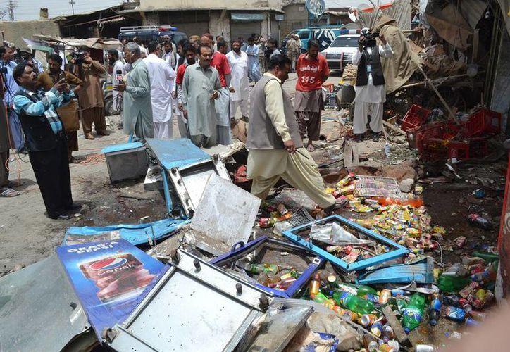 Una bomba colocada en una bicicleta mató a tres personas en un mercado en el suroeste de Pakistán. (AP)