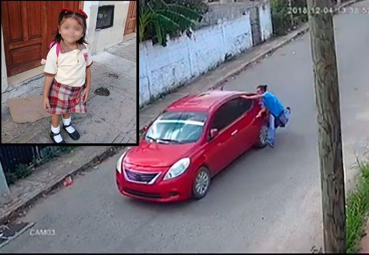 El papá de la niña 'secuestrada' dice que en el vehículo en el que se la llevaron estaba su ex esposa y dos personas más.