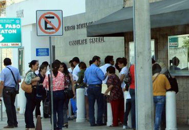 La afluencia a la SRE es alta. (José Acosta/SIPSE)
