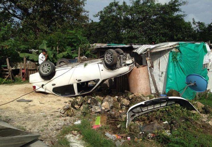 Los daños a resarcir del vehículo superaron los 30 mil pesos. (Redacción/SIPSE)