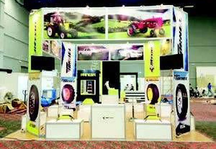 Algunos de los neumáticos se basan en la tecnología FuelSaving;  se exponen en la 41 Expo de la Andellac. (Redacción/SIPSE)